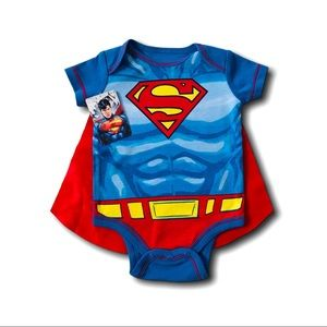 Superman Onesies with cape Size 0-3 Months